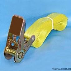 Скреп ременной с механизмом для стяжки улья, желтый (длина 5 метров).