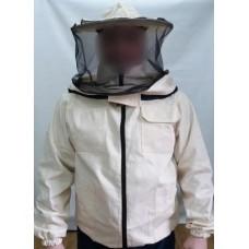 Куртка пчеловода защитная на молнии со шляпой