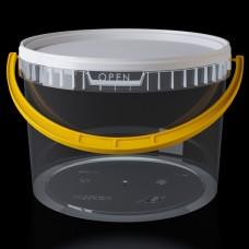 Ведро 11.0 литров с крышкой и метал. ручкой.