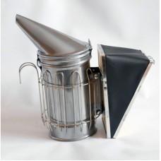 Дымарь пасечный со съемным мехом с ограждением, порошковая покраска