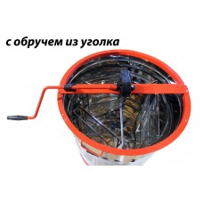 Медогонка 3-х рамочная из нержавеющей стали поворотная  ручная Ø625мм, М4003